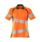 19093-771-1433 Polo shirt - hi-vis orange/moss green