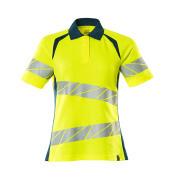 19093-771-1744 Polo shirt - hi-vis yellow/dark petroleum