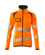19153-315-14010 Fleece Jumper with zipper - hi-vis orange/dark navy