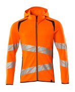 19284-781-14010 Hoodie with zipper - hi-vis orange/dark navy