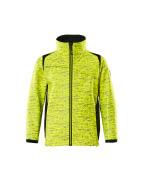 19902-291-1709 Softshell Jacket for children - hi-vis yellow/black