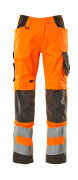20879-236-1418 Trousers with kneepad pockets - hi-vis orange/dark anthracite