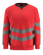 50126-932-22218 Sweatshirt - hi-vis red/dark anthracite
