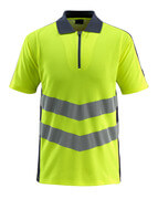 50130-933-14010 Polo Shirt - hi-vis orange/dark navy