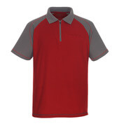 50302-260-02888 Polo Shirt with chest pocket - red/anthracite