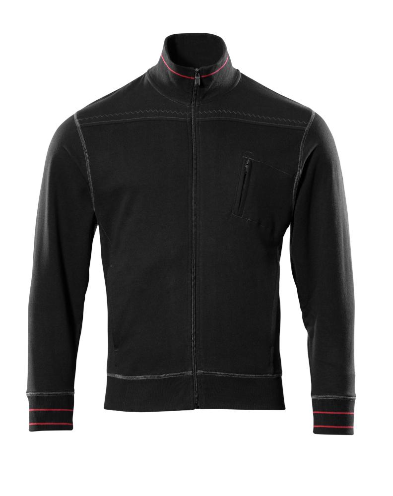 50353-834-09 Sweatshirt with zipper - black