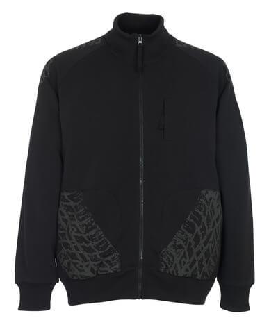 50549-830-09 Sweatshirt with zipper - black