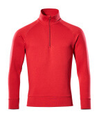 50611-971-02 Sweatshirt with half zip - red