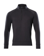 50611-971-09 Sweatshirt with half zip - black
