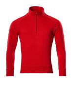 50611-971-202 Sweatshirt with half zip - traffic red
