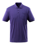 51586-968-95 Polo Shirt with chest pocket - violet blue