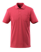 51586-968-96 Polo Shirt with chest pocket - raspberry red