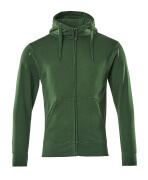 51590-970-03 Hoodie with zipper - green