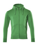 51590-970-333 Hoodie with zipper - grass green