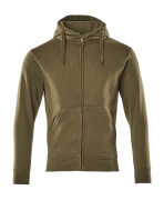 51590-970-33 Hoodie with zipper - moss green
