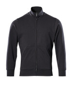 51591-970-09 Sweatshirt with zipper - black