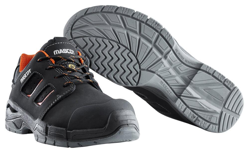 F0115-937-09140 Safety Shoe - black/dark orange