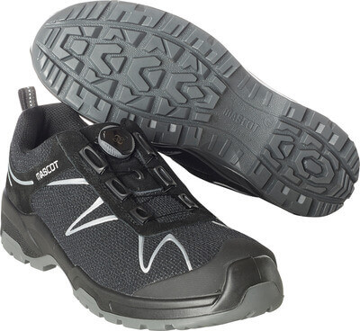 F0122-771-09880 Safety Shoe - Black/Silver
