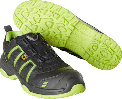 F0125-773-0917 Safety Shoe - black/lime green